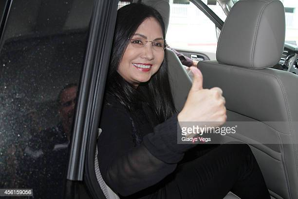 Ana Gabriel is sighted at Luis Munoz Marin International Airport on September 26 2014 in San Juan Puerto Rico