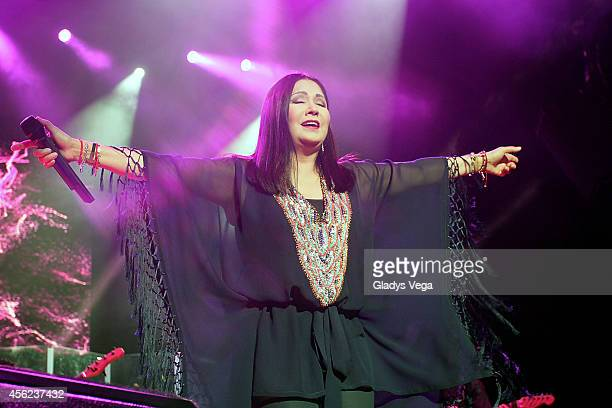 Ana Gabriel performs at Coliseo Jose M Agrelot on September 27 2014 in San Juan Puerto Rico