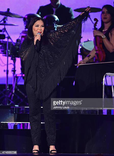 Ana Gabriel performs at the 2015 Billboard Latin Music Awards presented by State Farm on Telemundo at Bank United Center on April 30 2015 in Miami...