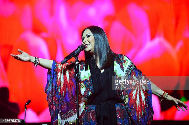 Ana Gabriel performs on August 16 2014 in Miami Florida