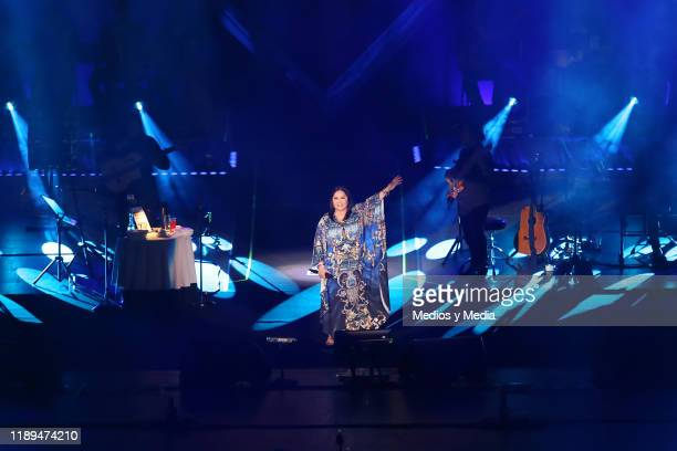 Ana Gabriel performs on stage during a concert at Auditorio Nacional on November 22 2019 in Mexico City Mexico