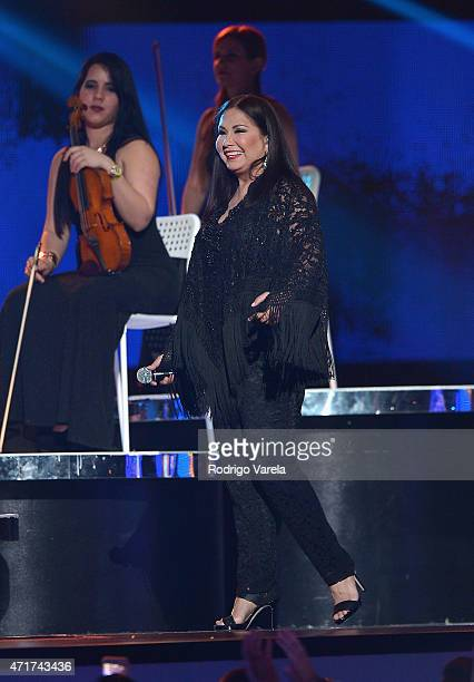 Ana Gabriel performs onstage at the 2015 Billboard Latin Music Awards presented bu State Farm on Telemundo at Bank United Center on April 30 2015 in...