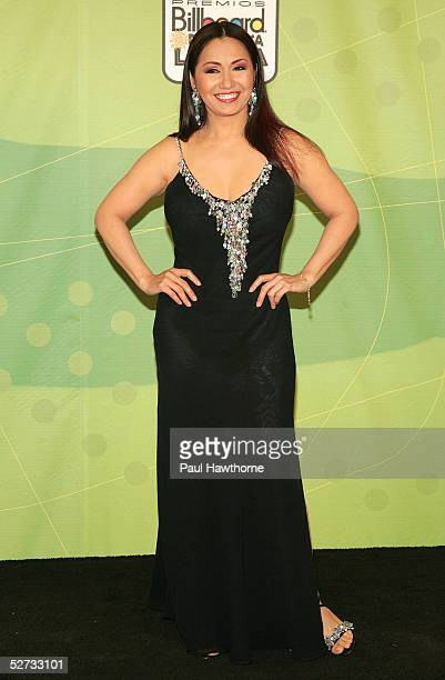 Ana Gabriel poses backstage at 2005 Billboard Latin Music Awards at the Miami Arena on April 28 2005 in Miami Florida