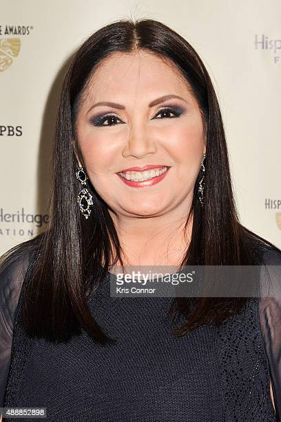 Ana Gabriel poses for a photo during the 2015 Hispanic Heritage Awards at the Warner Theatre on September 17 2015 in Washington DC