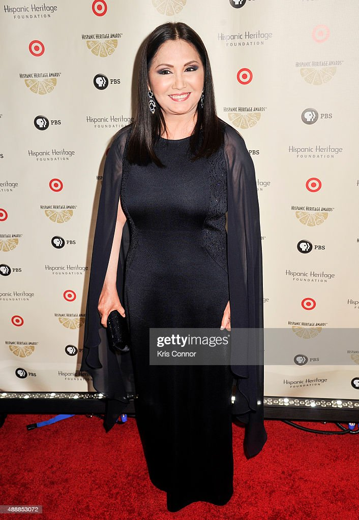 Ana Gabriel poses for a photo during the 2015 Hispanic Heritage Awards at the Warner Theatre on September 17, 2015 in Washington, DC.