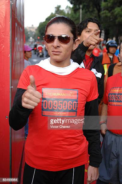 Ana Gabriela Guevara attends the Nike 10K Mexico DF at Paseo de la Reforma on August 31 2008 in Mexico City Mexico