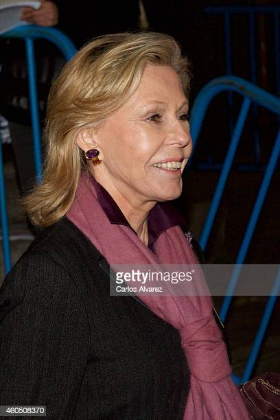 Ana Gamazo attends a Funeral Service for Duchess of Alba at the Real Basilica de San Francisco el Grande on December 15 2014 in Madrid Spain