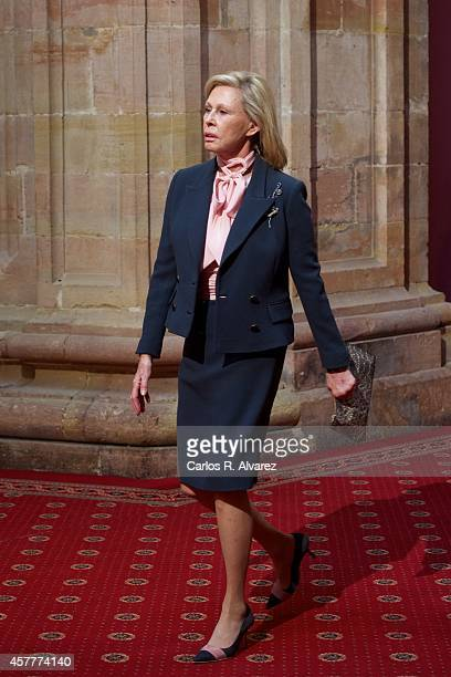 Ana Gamazo attends an audience at the Reconquista Hotel during the Principe de Asturias Awards 2014 day 2 on October 24 2014 in Oviedo Spain