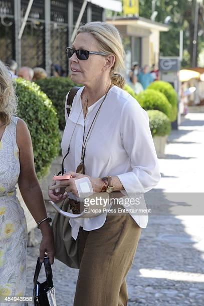 Ana Gamazo attends Goyesca Bullfights on September 6 2014 in Ronda Spain The bullfight events linked to The Feria Goyesca stem from the...