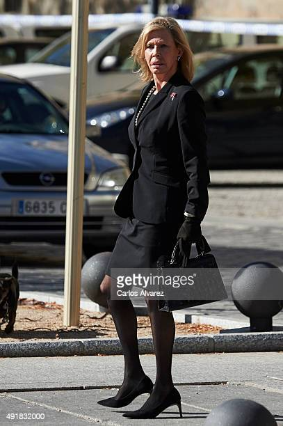 Ana Gamazo attends the Corpore Insepulto mass for Carlos de Borbon Dos Sicilias second cousin of King Juan Carlos and Duke of Calabria at San Lorenzo...