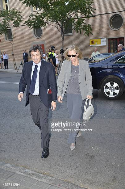 Ana Gamazo attends the funeral chapel for Isidoro Alvarez president of El Corte Ingles who died at 79 aged on September 14 2014 in Madrid Spain