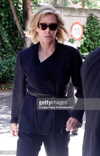 Ana Gamazo attends the funeral of president of Real Madrid Florentino Perez's wife Pitina Sandoval at La Almudena crematorium on May 23 2012 in...