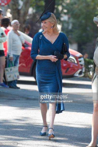 Ana Gamazo attends the wedding of Fernando FitzJames Stuart and Sofia Palazuelo at Liria Palace on October 6 2018 in Madrid Spain