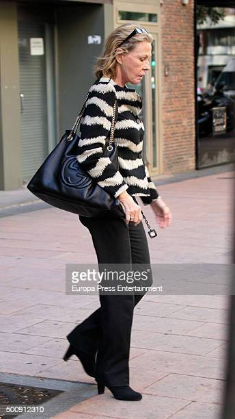 Ana Gamazo visits Princess Ana of France's home the day after the funeral of her husband Carlos de Borbon Dos Sicilias on November 13 2015 in Madrid...