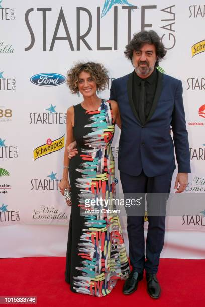 Ana Garcia Lozano and Victor Garcia attend the Starlite Gala on August 11 2018 in Marbella Spain