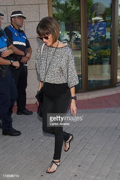 Ana Garcia Lozano attends the funeral chapel for the journalist Concha Garcia Campoy at La Paz Morgue on July 12 2013 in Madrid Spain