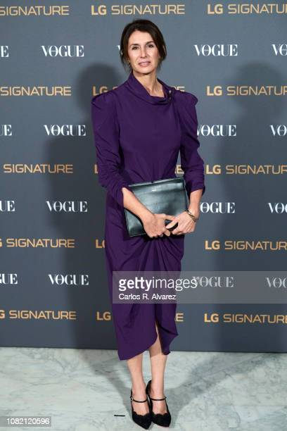 Ana Garcia Siñeriz attends 'Vogue LG Signature' photocall at Carlos Maria de Castro Palace on December 13 2018 in Madrid Spain