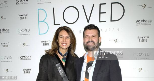 Ana Garcia Sineriz and guest attends the 'BLoved' restaurant opening party photocall at the Catalonia Hotel on February 15 2018 in Madrid Spain