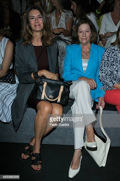 Ana Garcia Sineriz and Natalia Figueroa attend Mercedes Benz Fashion Week Madrid at Ifema on September 13 2014 in Madrid Spain