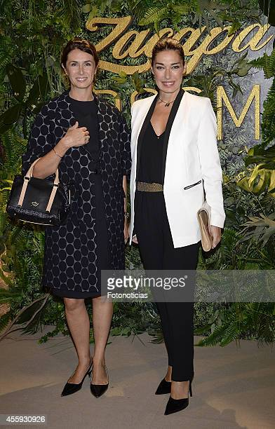 Ana Garcia Sineriz and Raquel Revuelta attend the Zacapa Room opening party at the Casino de Madrid on September 22 2014 in Madrid Spain