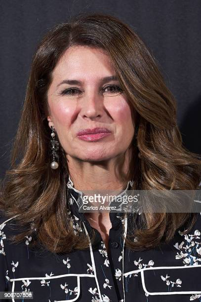 Ana Garcia Sineriz attends a dinner in honor of Victoria Beckham organized by Vogue at the Santo Mauro Hotel on January 18 2018 in Madrid Spain
