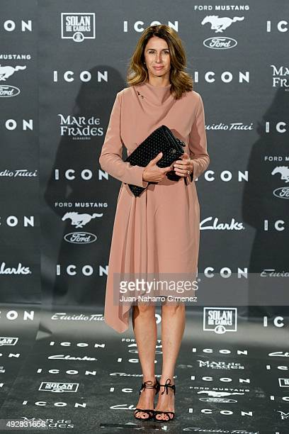 Ana Garcia Sineriz attends fashion 'ICON Awards Men of the Year' at Casa Velazquez on October 15 2015 in Madrid Spain