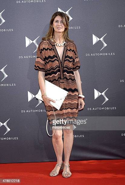 Ana Garcia Sineriz attends the DS Automobiles launch at the French Ambassador's Residence on June 25 2015 in Madrid Spain