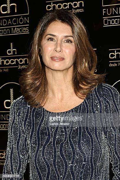 Ana Garcia Sineriz attends the charity Chocron Calendar presentation at the Neptuno Palace on December 9 2015 in Madrid Spain