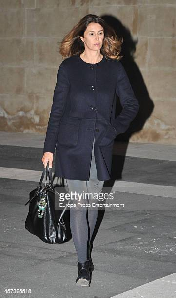 Ana Garcia Sineriz attends the funeral service for Graciliano Barrerios at San Jeronimo el Real church on October 16 2014 in Madrid Spain
