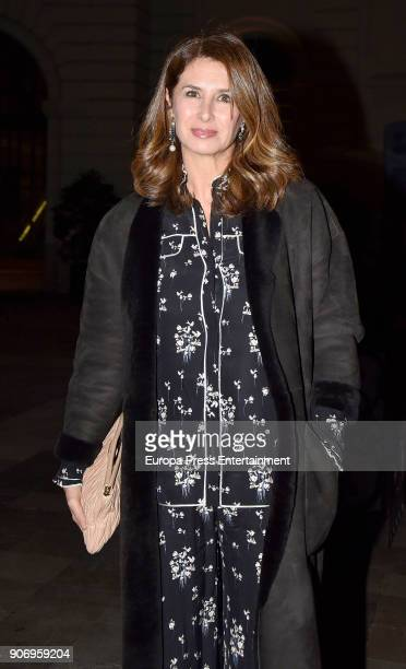Ana Garcia Sineriz attends the homage dinner to Victoria Beckham hosted by Vogue Magazine at Santo Mauro hotel on January 18 2018 in Madrid Spain