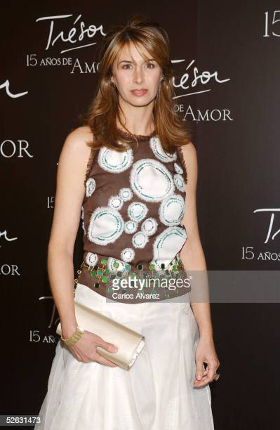 Ana Garcia Sineriz attends the Lancome Gala Dinner celebrating the 15th anniversary of their Tresor brand at the Jardines BNP on April 14 2005 in...