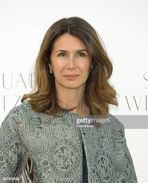 Ana Garcia Sineriz attends the Stuart Weitzman cocktail party at the US Ambassador's Residence on June 1 2016 in Madrid Spain