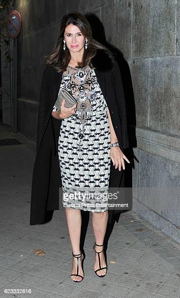 Ana Garcia Sineriz attends the tribute to designer Carolina Herrera at USA Embassy on November 14 2016 in Madrid Spain