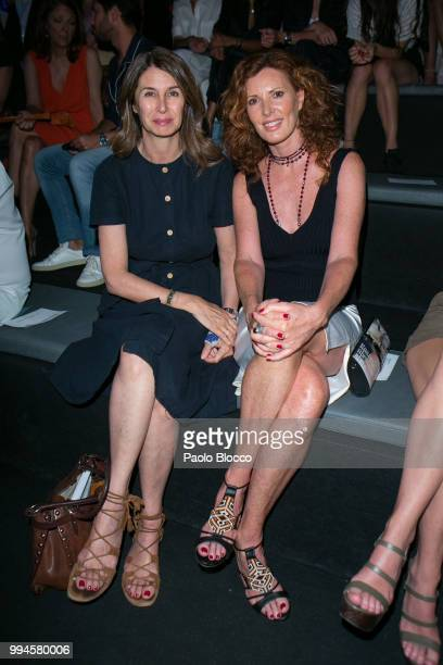Ana GarciaSineriz and Veronica Mengod attend the Roberto Torretta fashion show at Mercedes Benz Fashion Week Madrid Spring/ Summer 2019 on July 9...