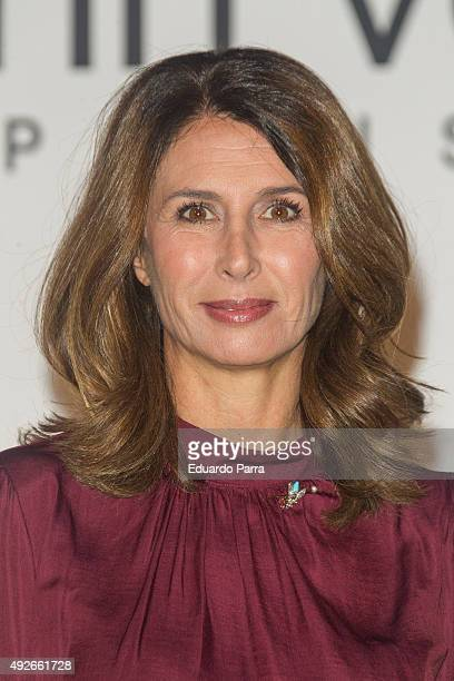 Ana GarciaSineriz attends 'Dinh Van' 50th Anniversary party at French Consulate on October 14 2015 in Madrid Spain