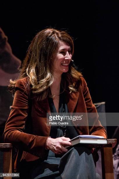 Ana GarciaSineriz interviews Javier Moro during the presentation of his book 'Mi Pecado' on April 4 2018 in Madrid Spain