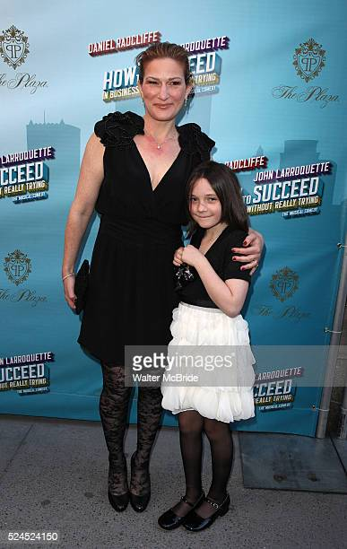 Ana Gasteryer & Daughter Frances Mary McKittrick attending the Broadway Opening Night Performance of 'How to Succeed in Business without Really...
