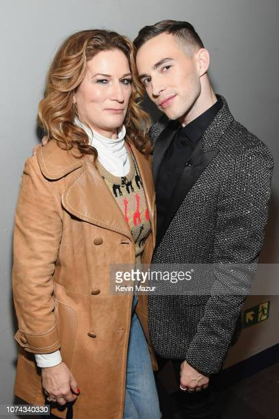 Ana Gasteyer and Adam Rippon pose backstage during Full Frontal With Samantha Bee Presents Christmas On I.C.E. At PlayStation Theater on December 17,...