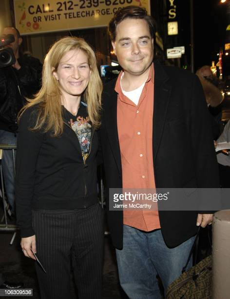 """Ana Gasteyer and Charlie McKittrick during """"Barefoot in the Park"""" Broadway Opening Night - Arrivals in New York City, New York, United States."""