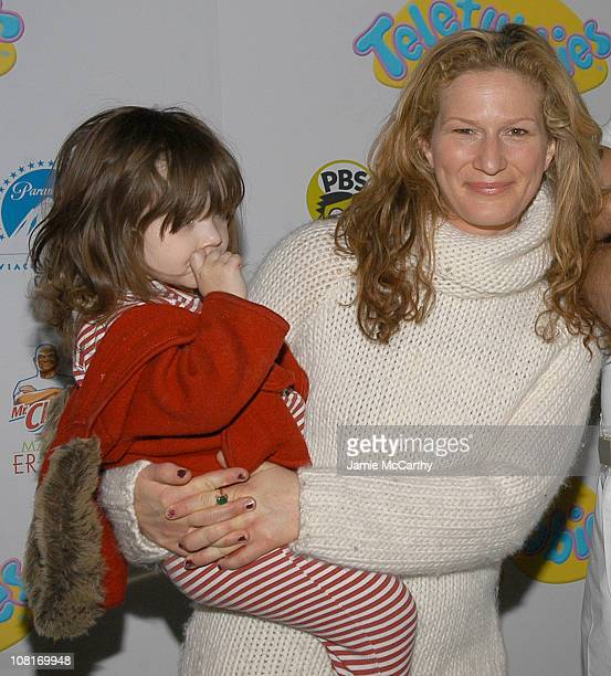 Ana Gasteyer and daughter Francis during Teletubbies Short Debuts with Special Guest Mr Clean and Noonoo at Loews' Real Moms in New York City at...