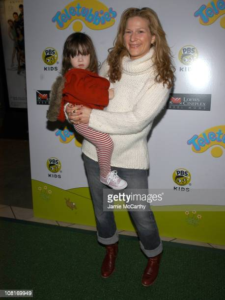 Ana Gasteyer and daughter Francisz during Teletubbies Short Debuts with Special Guest Mr Clean and Noonoo at Loews' Real Moms in New York City at...