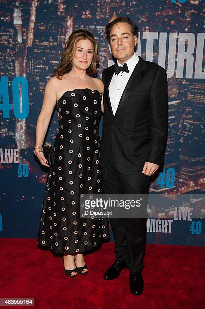 Ana Gasteyer and husband Charlie McKittrick attend the SNL 40th Anniversary Celebration at Rockefeller Plaza on February 15, 2015 in New York City.