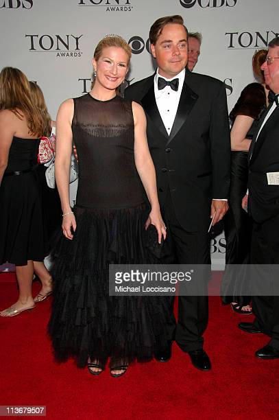 Ana Gasteyer and husband Charlie McKittrick during 60th Annual Tony Awards - Arrivals at Radio City Music Hall in New York City, New York, United...