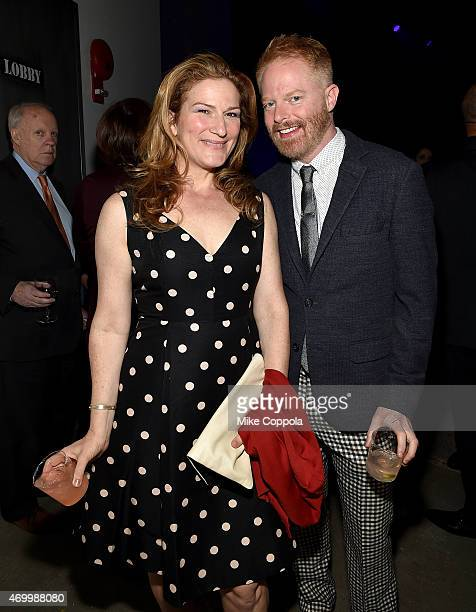 Ana Gasteyer and Jesse Tyler Ferguson attend the Good Shepherd Services Spring Party 2015 hosted by Isaac Mizrahion on April 16 2015 in New York City