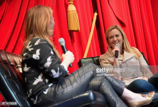 Ana Gasteyer and Samantha Bee speak onstage during TBS Comedy Festival 2017 Full Hour With Full Frontal's Samantha Bee Hosted By Ana Gasteyer on...