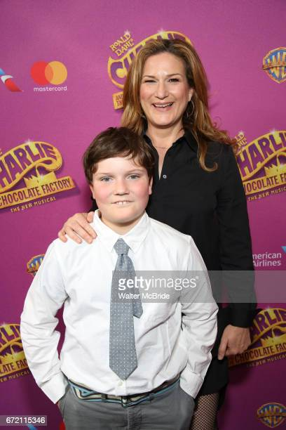 Ana Gasteyer and Ulysses McKittrick attend the Broadway Opening Performance of 'Charlie and the Chocolate Factory' at the Lunt-Fontanne Theatre on...