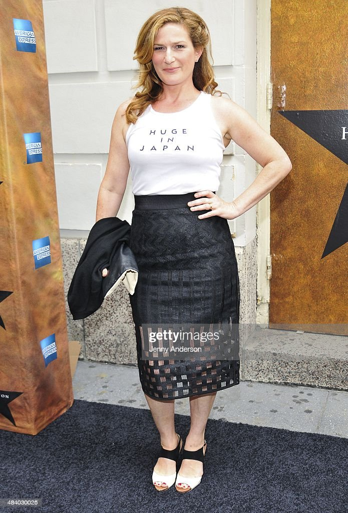 Ana Gasteyer attends 'Hamilton' Broadway Opening Night at Richard Rodgers Theatre on August 6, 2015 in New York City.