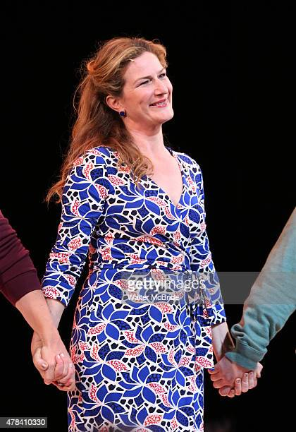 Ana Gasteyer during the Opening Night Curtain Call for the New York City Center Encores OffCenter production of 'A New Brain' at City Center on June...