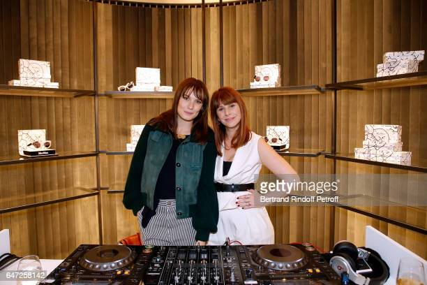Ana Girardot and DJ of the event Cecile Togni attend the Max Mara 'Prism in Motion' Eventas with the presentation of the new collection Capsule of...