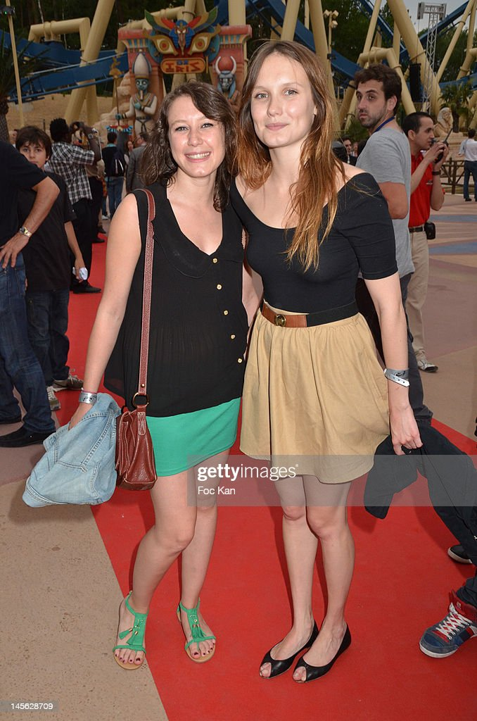 Ana Girardot (R) and her cousin attend the 'Oziriz' New Game Launch at the Parc Asterix on June 2, 2012 in Paris, France.